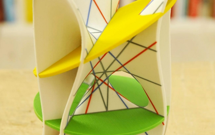 Clebsch diagonal surface with two planes - by MO-Labs