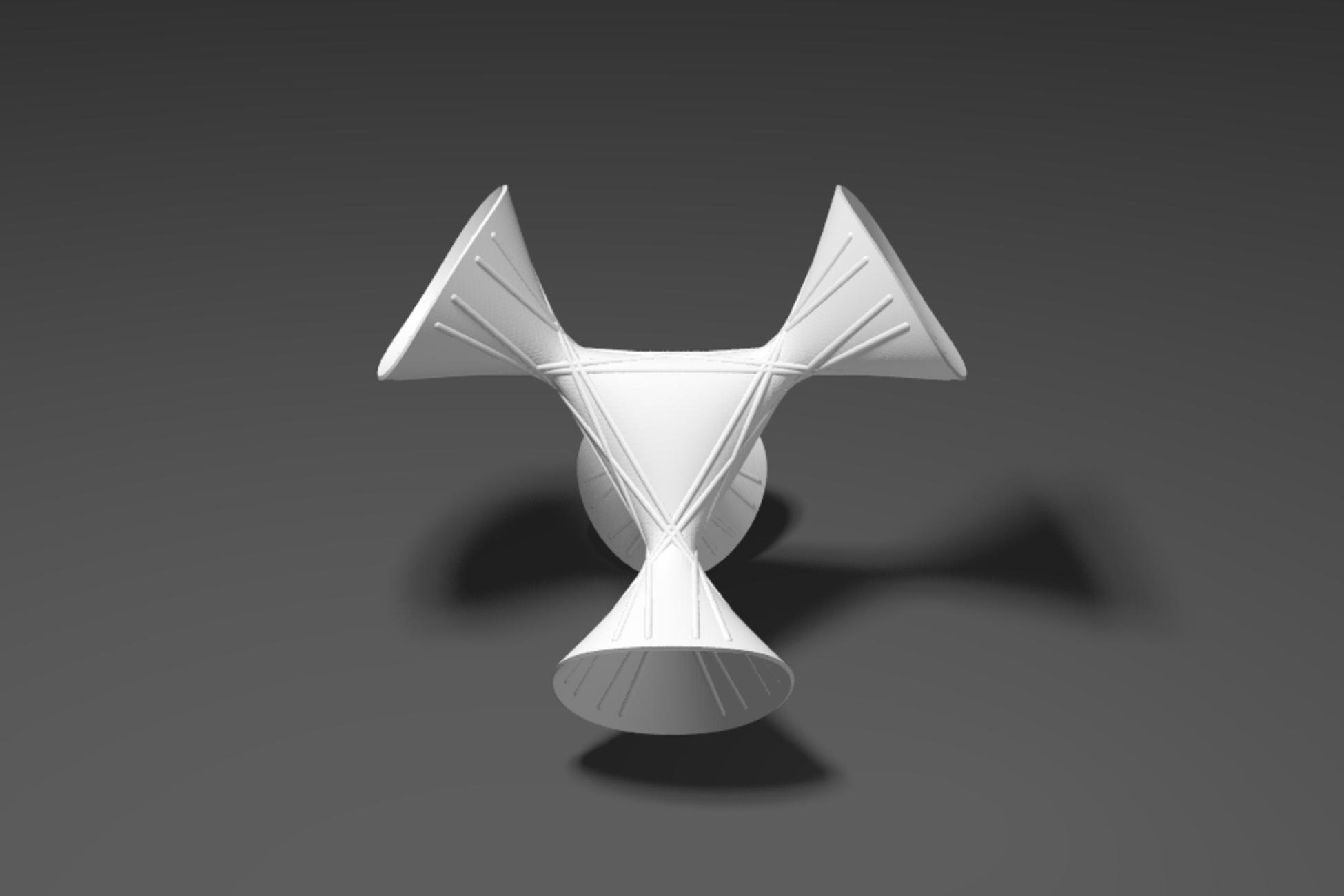 symmetric cubic with 27 lines - a MO-Labs model from Math-Sculpture.com