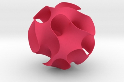 a gyroid - a MO-Labs math object on math-sculpture.com, a shapeways render