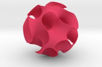 a gyroid - a MO-Labs math object on math-sculpture.com, a shapeways render