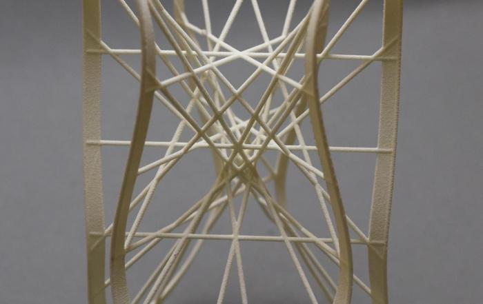 Clebsch 27 lines only - a MO-Labs sculpture on math-sculpture.com