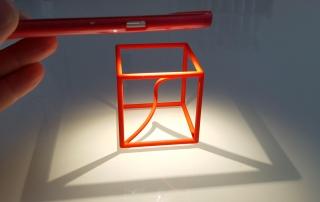 Space curve in a cube - a math model from Math-Sculpture.com
